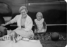 Vintage picture of Sharon and Mum